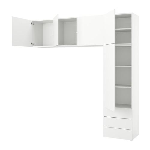 PLATSA - 五門衣櫃連三個抽屜, white/Fonnes white | IKEA 香港及澳門 - PE835809_S4