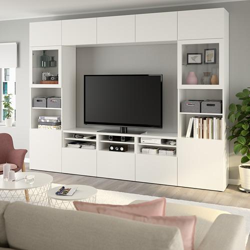 BESTÅ - 電視貯物組合/玻璃門, white/Lappviken white clear glass | IKEA 香港及澳門 - PE737048_S4