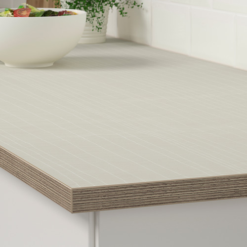 EKBACKEN - worktop, matt beige/patterned laminate | IKEA Hong Kong and Macau - PE737076_S4