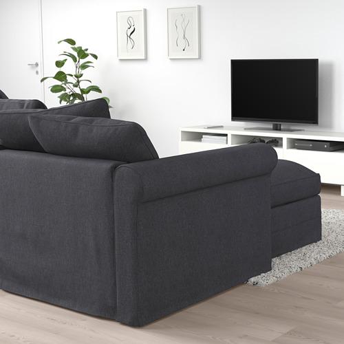 GRÖNLID - corner sofa-bed, 5-seat, with chaise longue/Sporda dark grey   IKEA Hong Kong and Macau - PE690793_S4