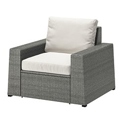 SOLLERÖN - armchair, outdoor, dark grey/Frösön/Duvholmen beige | IKEA Hong Kong and Macau - PE737086_S3