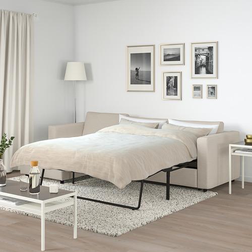 VIMLE - 3-seat sofa-bed with chaise longue, Gunnared beige | IKEA Hong Kong and Macau - PE721667_S4