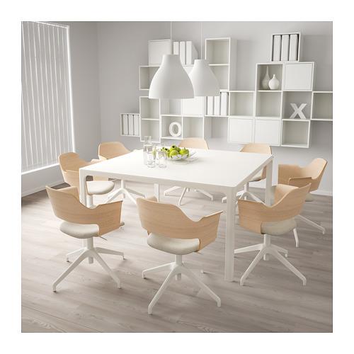 FJÄLLBERGET - conference chair, white stained oak veneer/Gunnared beige | IKEA Hong Kong and Macau - PE694436_S4