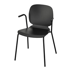 SVENBERTIL - chair with armrests, black/Dietmar black | IKEA Hong Kong and Macau - PE737152_S3