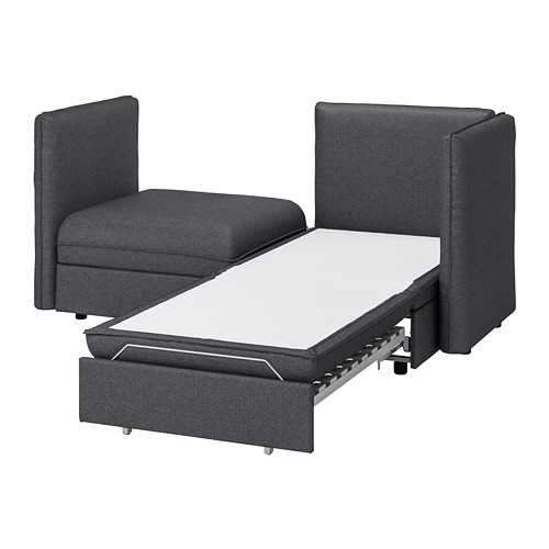 VALLENTUNA - 2-seat modular sofa with sofa-bed, and storage/Hillared dark grey | IKEA Hong Kong and Macau - PE737180_S4