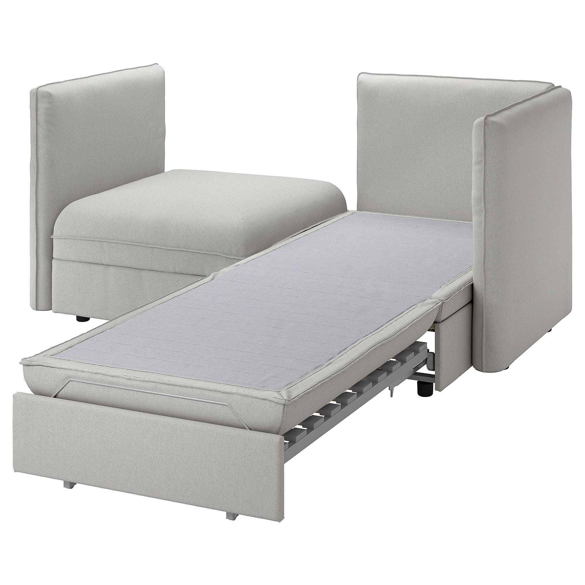 Vallentuna 2 Seat Modular Sofa With Sofa Bed And Storage Orrsta Light Grey Ikea Hong Kong