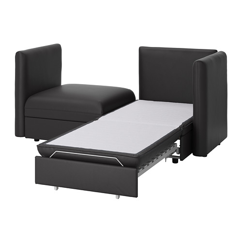VALLENTUNA - 兩座位組合式梳化連梳化床, and storage/Murum black   IKEA 香港及澳門 - PE737184_S4