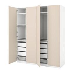 PAX/REINSVOLL - wardrobe combination, white/grey-beige   IKEA Hong Kong and Macau - PE776769_S3