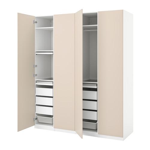 PAX/REINSVOLL - wardrobe combination, white/grey-beige | IKEA Hong Kong and Macau - PE776769_S4