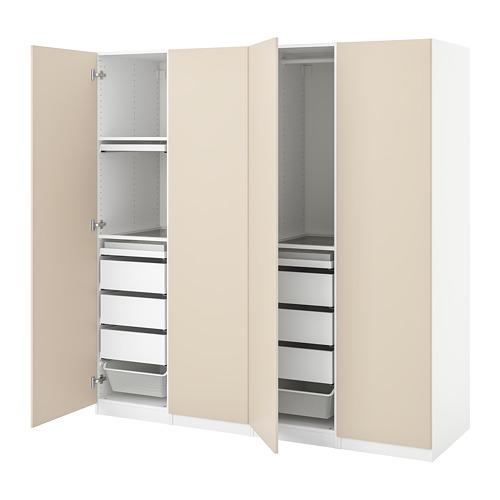 PAX/REINSVOLL - 衣櫃組合, 白色/灰米黃色 | IKEA 香港及澳門 - PE776773_S4