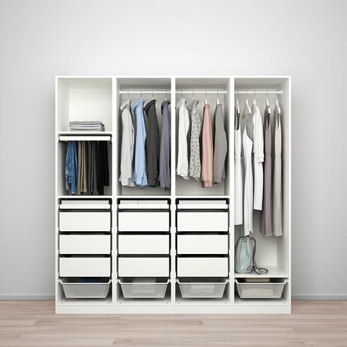 PAX/REINSVOLL - 衣櫃組合, 白色/灰米黃色 | IKEA 香港及澳門 - PE776774_S4