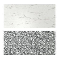 LYSEKIL - wall panel, double sided white marble effect/black/white mosaic patterned | IKEA Hong Kong and Macau - PE776806_S3