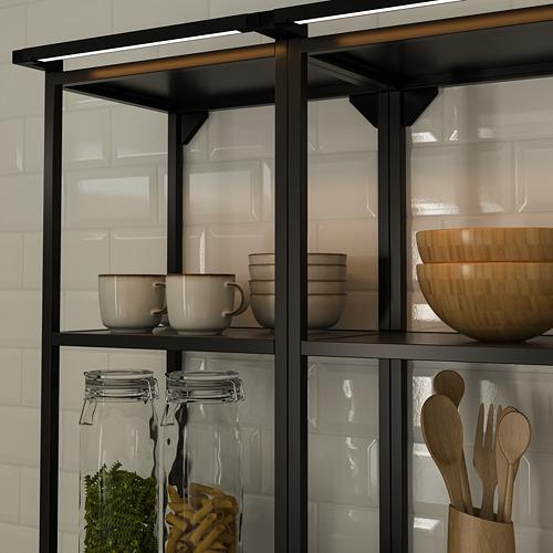 SKYDRAG - LED櫃台板抽屜燈附感應器, 可調式 炭黑色   IKEA 香港及澳門 - PE790517_S4