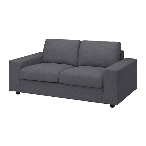 VIMLE - 兩座位梳化, 有寬闊扶手 Gunnared/暗灰色 | IKEA 香港及澳門 - PE836073_S4