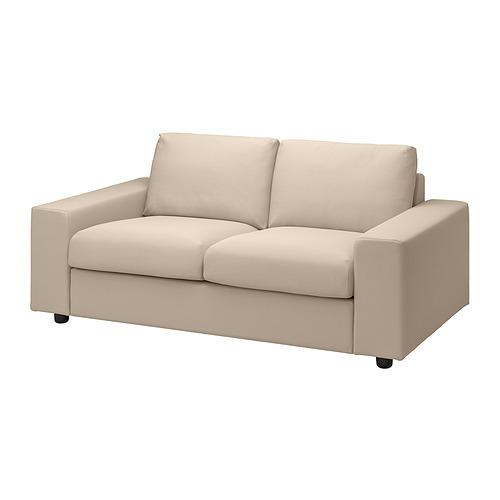 VIMLE - 2-seat sofa, with wide armrests/Hallarp beige | IKEA Hong Kong and Macau - PE836074_S4
