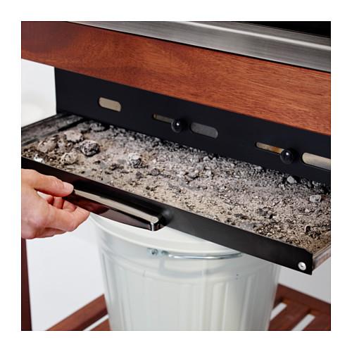 ÄPPLARÖ/KLASEN 燒烤炭爐連貯物櫃