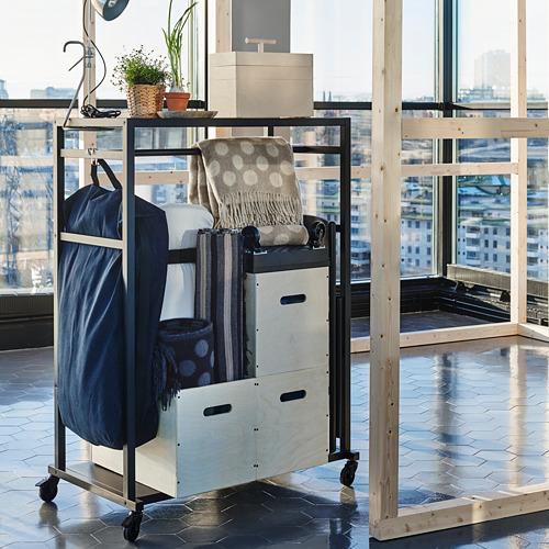RÅVAROR - storage unit on castors, black | IKEA Hong Kong and Macau - PE791523_S4