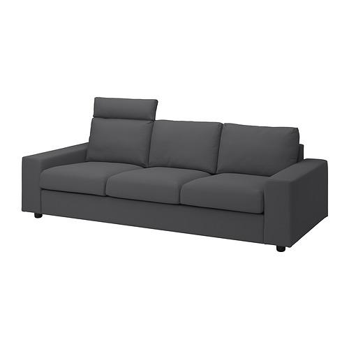 VIMLE - 三座位梳化, 連頭枕 有寬闊扶手/Hallarp 灰色 | IKEA 香港及澳門 - PE836088_S4