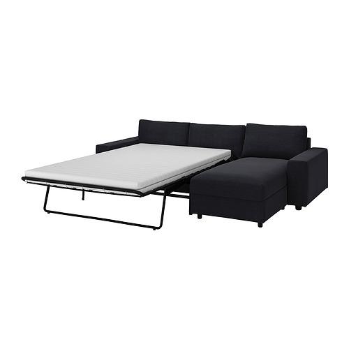 VIMLE - 三座位梳化連躺椅, with wide armrests/Saxemara black-blue | IKEA 香港及澳門 - PE836099_S4