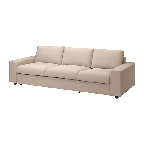 VIMLE - 三座位梳化床布套, with wide armrests/Hallarp beige   IKEA 香港及澳門 - PE836102_S4