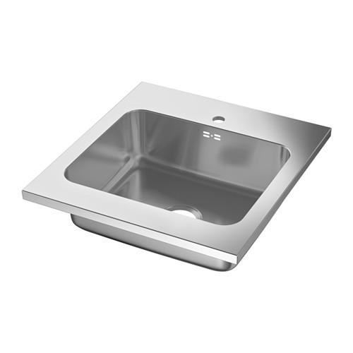 AMMERÅN - onset sink, 1 bowl, stainless steel | IKEA Hong Kong and Macau - PE584473_S4