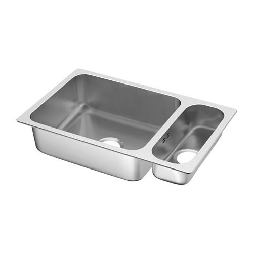 HILLESJÖN inset sink 1 1/2 bowl
