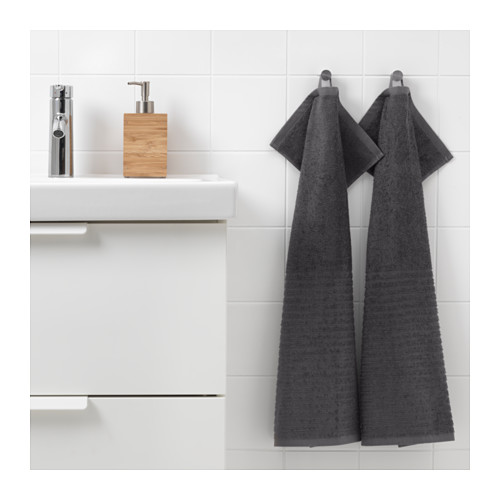 VÅGSJÖN - hand towel, dark grey | IKEA Hong Kong and Macau - PE646639_S4