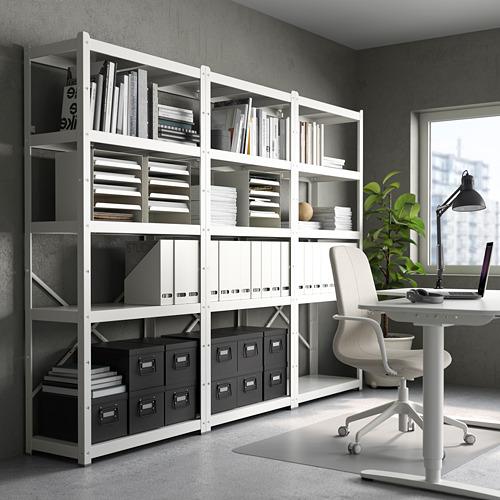 BROR - 層架組合, 254x40x190 cm, 白色 | IKEA 香港及澳門 - PE737433_S4