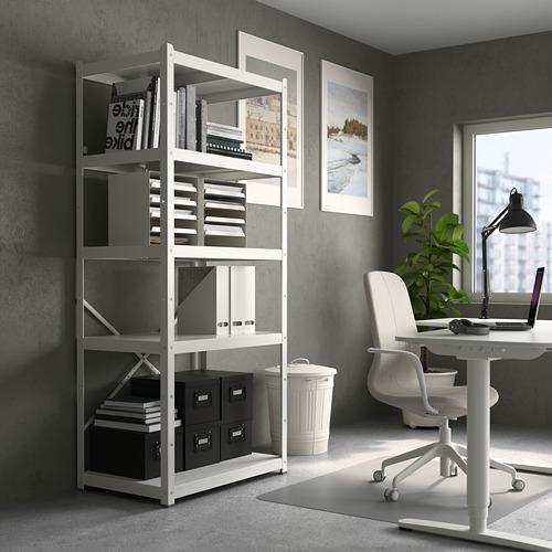 BROR - 層架組合, 85x55x190 cm, 白色   IKEA 香港及澳門 - PE737438_S4