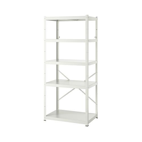 BROR - 層架組合, 85x55x190 cm, 白色   IKEA 香港及澳門 - PE737439_S4