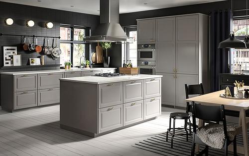 METOD - 角位地櫃連旋轉盤, 白色/Bodbyn 灰色 | IKEA 香港及澳門 - PH172894_S4