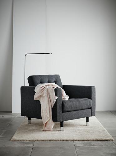 LANDSKRONA - armchair, Gunnared dark grey/metal   IKEA Hong Kong and Macau - PH161952_S4