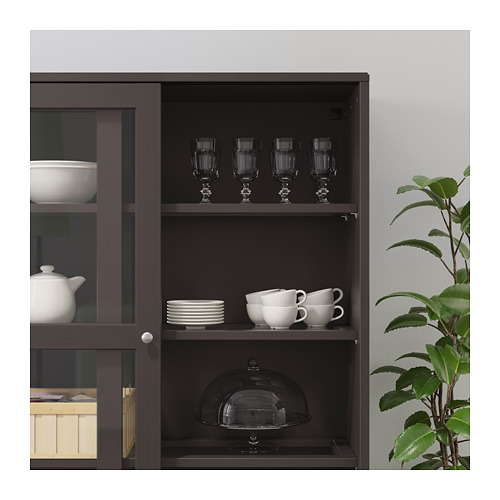 HAVSTA - storage comb w sliding glass doors, dark brown | IKEA Hong Kong and Macau - PE694801_S4