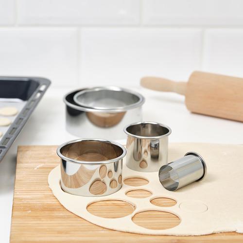 LÄTTBAKAD - cookie cutter, set of 5, silver-colour | IKEA Hong Kong and Macau - PE790786_S4