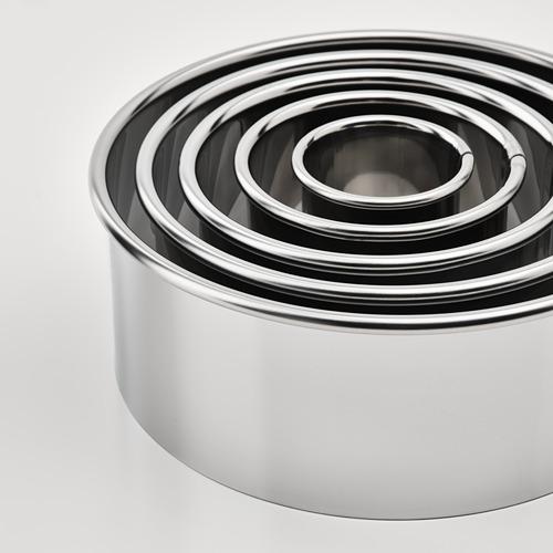 LÄTTBAKAD - cookie cutter, set of 5, silver-colour | IKEA Hong Kong and Macau - PE790787_S4