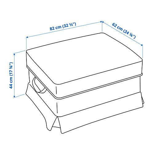 EKTORP - 腳凳, Virestad 紅色/白色 | IKEA 香港及澳門 - PE790783_S4