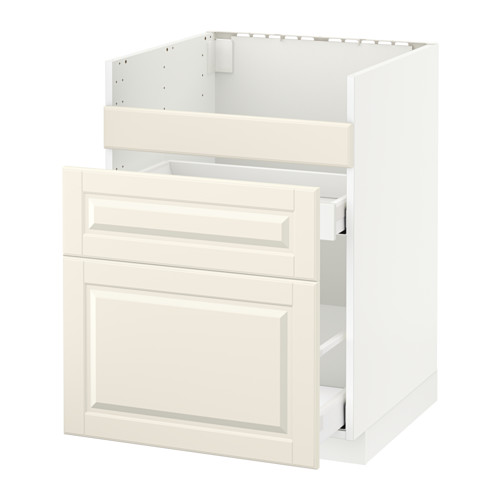 METOD/MAXIMERA - base cb f HAVSEN snk/3 frnts/2 drws, white/Bodbyn off-white | IKEA Hong Kong and Macau - PE520722_S4