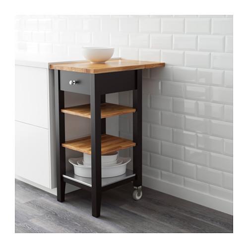 STENSTORP - 廚房活動几, 棕黑色/橡木   IKEA 香港及澳門 - PE646793_S4