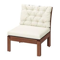 ÄPPLARÖ - 戶外舒適椅, 染褐色/Kuddarna 米黃色 | IKEA 香港及澳門 - PE737665_S3