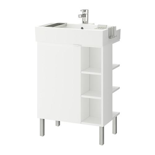 LILLÅNGEN 單門洗手盆櫃連2層架組件
