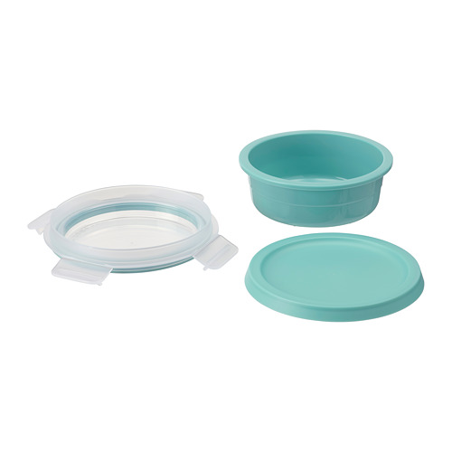 IKEA 365+ - lunch box with dry food compartment, round turquoise, 450ml | IKEA Hong Kong and Macau - PE790853_S4