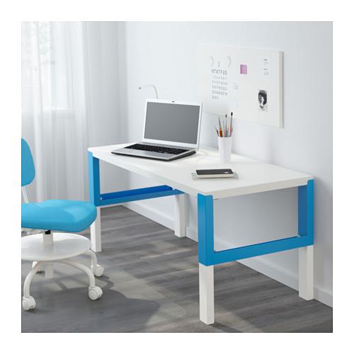 PÅHL - desk, white/blue | IKEA Hong Kong and Macau - PE646890_S4