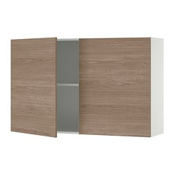 KNOXHULT - wall cabinet with doors, wood effect/grey | IKEA Hong Kong and Macau - PE694856_S3