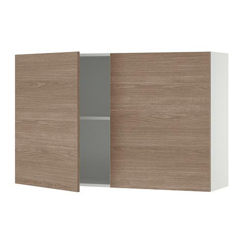 KNOXHULT - 雙門吊櫃, 木紋/灰色 | IKEA 香港及澳門 - PE694856_S4