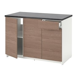 KNOXHULT - base cabinet with doors and drawer, wood effect/grey | IKEA Hong Kong and Macau - PE694877_S3