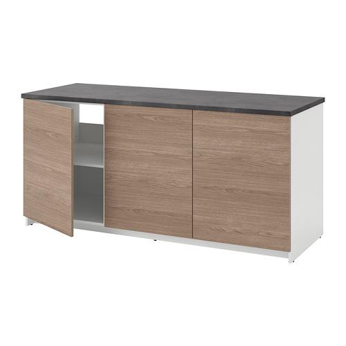 KNOXHULT - 連門地櫃, 木紋/灰色   IKEA 香港及澳門 - PE694862_S4