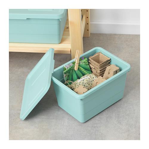SOCKERBIT - storage box with lid, light blue | IKEA Hong Kong and Macau - PE694900_S4