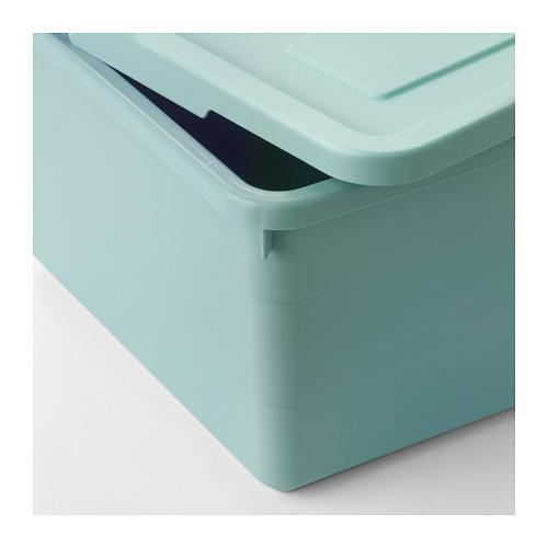 SOCKERBIT - storage box with lid, light blue | IKEA Hong Kong and Macau - PE694899_S4