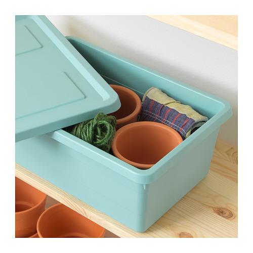 SOCKERBIT - 連蓋貯物盒, 淺藍色 | IKEA 香港及澳門 - PE694901_S4