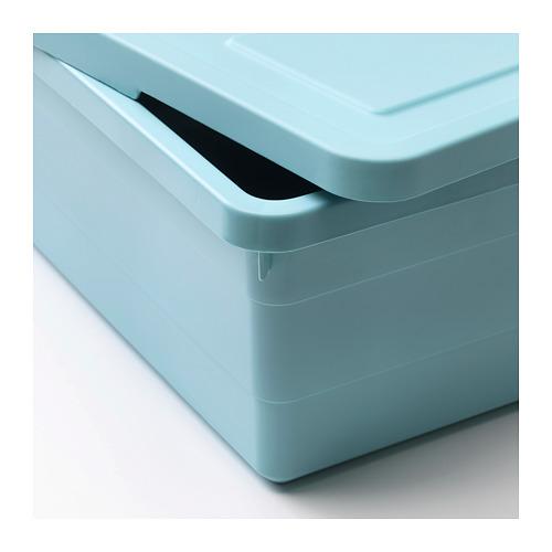 SOCKERBIT - 連蓋貯物盒, 淺藍色 | IKEA 香港及澳門 - PE694905_S4